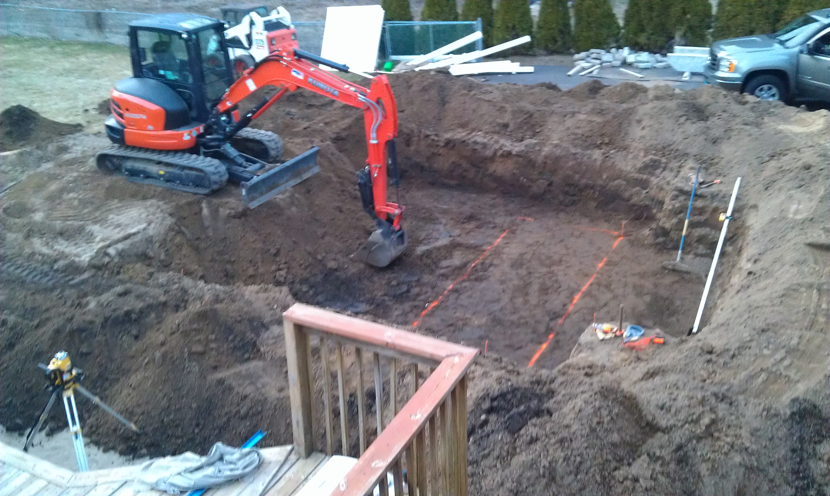Ct pool builders inground pool installation urban pools - Swimming pool construction process ...